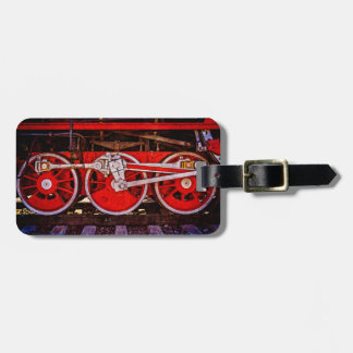 Vintage Dampf-Zug-Räder Gepäckanhänger