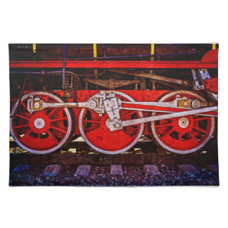 Vintage Dampf-Zug-Räder Tischset