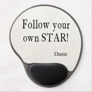 Vintage Dante Zitate folgen Ihrem eigenen Gel Mousepads