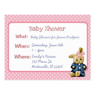 Vintage das Baby-Duschen-Einladung des Postkarte
