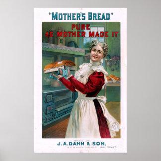 Vintage das Brot-Anzeige der Mutter Poster