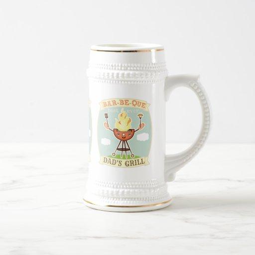 Vintage der Vatertags-Tasse Grill GRILLEN Vati-