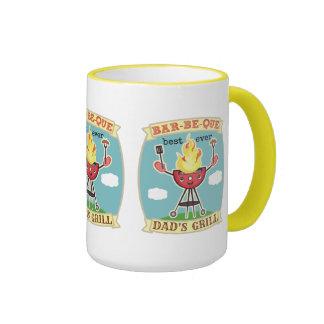 Vintage der Vatertags-Tasse Grill GRILLEN Vati- Ringer Tasse