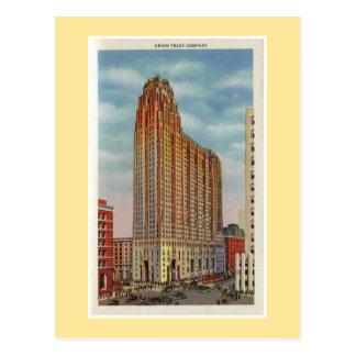 Vintage Detroit Union Trust Company Postkarten