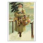 Vintage Deutsch-Sankt-Weihnachtskarte Karte