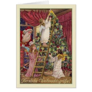 Vintage deutsche Engels-Weihnachtskarte Karte