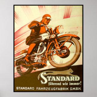 Vintage deutsche Motorrad-Anzeige Poster