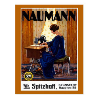 Vintage deutsche Nähmaschinewerbung Postkarte