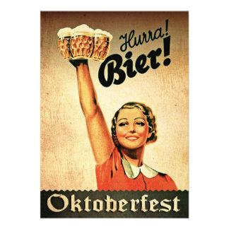 Vintage Deutscher Oktoberfest Individuelle Einladungskarte