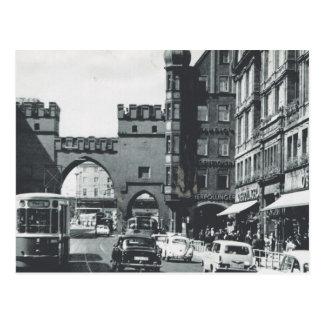 Vintage Deutschland-, München-, Stadttrams und Zug Postkarten