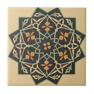 Vintage die 1884 Ornamental-Keramik-Kunst fertigen Fliese