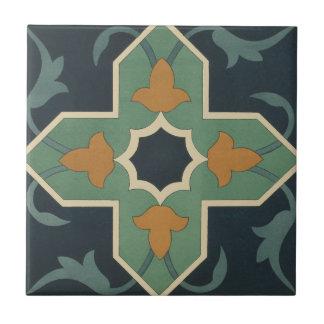 Vintage die 1884 Ornamental-Keramik-Kunst fertigen Keramikfliese