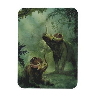 Vintage Dinosaurier, Centrosaurus im Dschungel Magnet