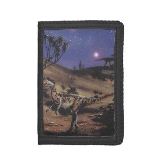 Vintage Dinosaurier, Dilophosaurus auf einer