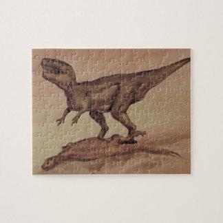 Vintage Dinosaurier, Fleisch fressendes Puzzle