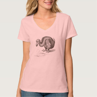 Vintage Dodo-Vogel-Antiken-Vogel-Schablone T-Shirt