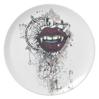 Vintage Dracula-Lippen Teller