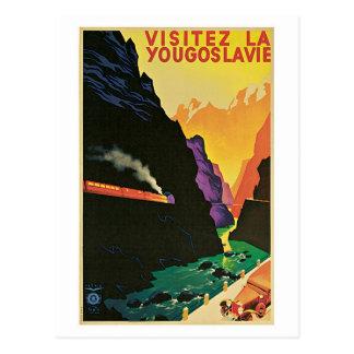 Vintage Dreißigerjahre Besuch Postkarte