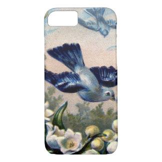 Vintage Drossel-Blumenlilie der Talvögel iPhone 8/7 Hülle