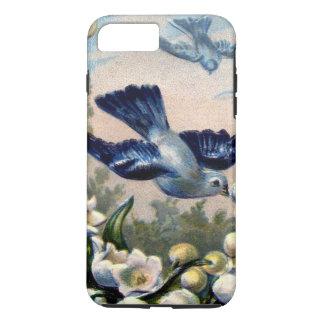 Vintage Drossel-Blumenlilie der Talvögel iPhone 8 Plus/7 Plus Hülle