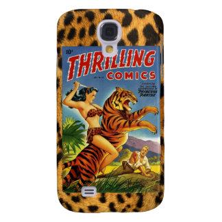Vintage Dschungel-Comic-Abdeckung Galaxy S4 Hülle