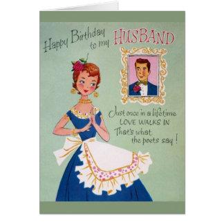 Vintage Ehemann-Geburtstags-Gruß-Karte Grußkarte