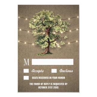 Vintage Eichen-Baum-rustikale Lichter, die UAWG 8,9 X 12,7 Cm Einladungskarte