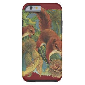 Vintage Eichhörnchen, wilde Tiere, Waldgeschöpfe Tough iPhone 6 Hülle