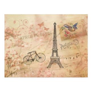 Vintage Eiffel-Turm-Kunst Postkarte