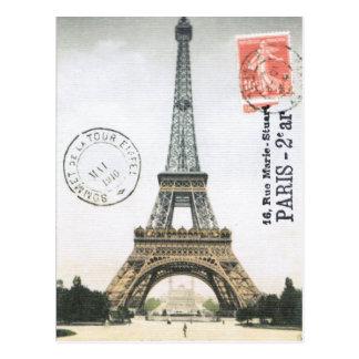 Vintage Eiffel-Turm… Postkarte