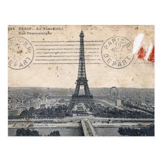 Vintage Eiffel-Turm-Postkarte Postkarten