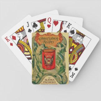 Vintage eingemachte Lachsrezept-Spielkarten Spielkarten