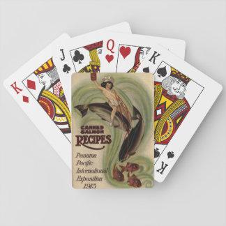 Vintage eingemachte Lachsspielkarten Spielkarten