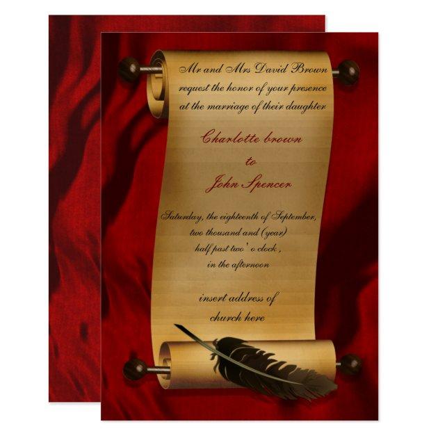 vintage einladung der mittelalterlichen rolle | zazzle, Einladung