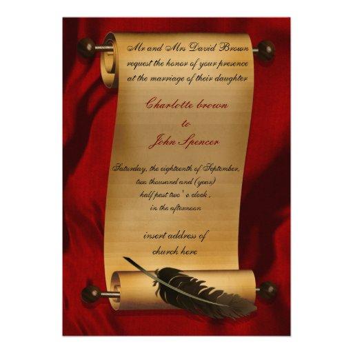 Vintage Einladung der mittelalterlichen Rolle
