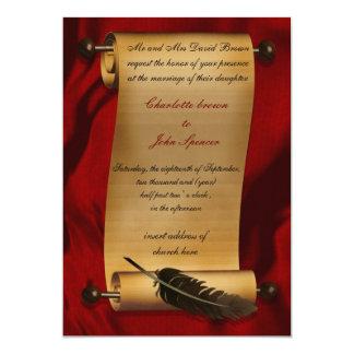 Vintage Einladung der mittelalterlichen Rolle 12,7 X 17,8 Cm Einladungskarte