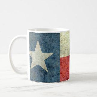 Vintage einzige Stern-Staatsflagge von Texas Kaffeetasse