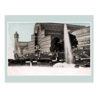 Vintage Eisenarchitektur Kristallpalast London Postkarte