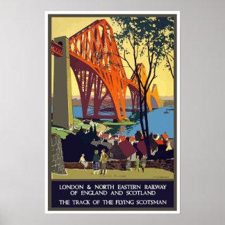 Vintage Eisenbahn London England und Schottland Poster