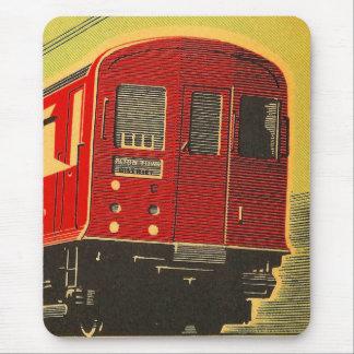Vintage Eisenbahn-roter Zug Mousepad