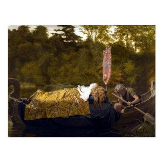 Vintage Elaine die Dame von Shalott König Arthur Postkarten