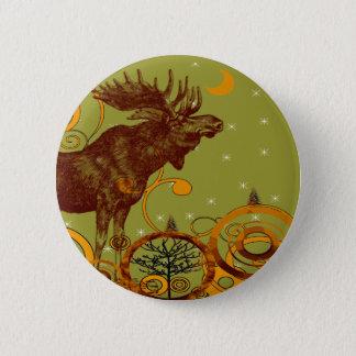 Vintage Elch-Geschenke Runder Button 5,7 Cm
