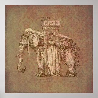Vintage Elefant-Bastille Plakate