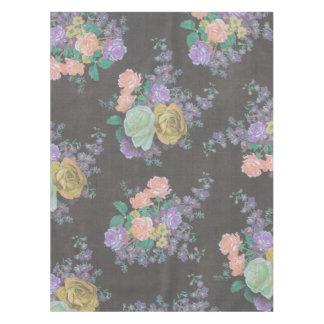 Vintage elegante Blumen Blumentabellen-Stoff Tischdecke