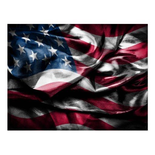 Vintage elegante rustikale abgedroschene USA Flagg Postkarten