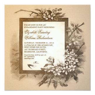 Vintage elegante Verlobungs-Party Einladungen