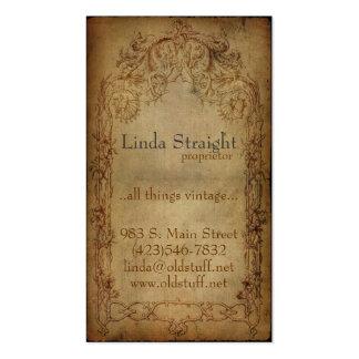Vintage Eleganz-Dunkelheit Visitenkarten