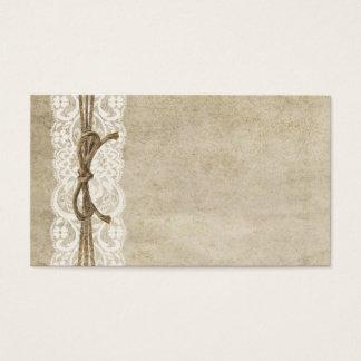 Vintage Eleganz-Spitze auf Schnur-Platzkarte Visitenkarten
