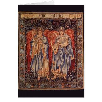 Vintage Engel, Angeli Laudantes durch Burne Jones Karte
