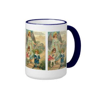 Vintage Engels-Feiertags-Kaffee-Tasse Ringer Tasse
